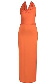 Orange Halter Dress by Tara and I