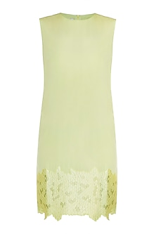 Lime Green Embroidered Dress by Tara and I