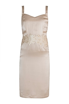 Gold Embroidered Camisole Dress by Tara and I
