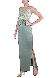 Moss Green Scallop Layered Dress by Tara and I