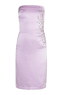 Lilac Embroidered Tube Dress by Tara and I