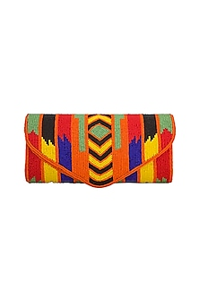 Multi Colored Embroidered Flapover Sling Bag by Tarini Nirula