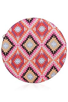 Multicolor Striped Print Round Shape Amour Clutch by Tarini Nirula