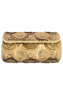 Gold embroidered clutch by Tarini Nirula