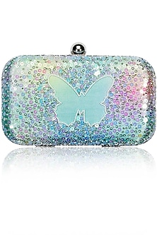 Enchanted minaudiere butterfly clutch by Tarini Nirula