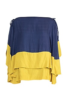 Navy Blue Double Layered Top