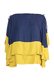 Navy Blue Double Layered Top by The Grey Heron