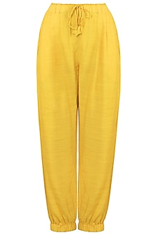 Yellow Bottom Trapped Pants