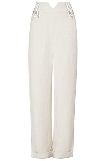 Off White Wide Leg Trousers