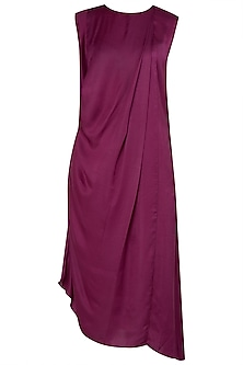 Maroon Maxi Cowl Dress