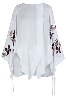 White Japanese Embroidered Shirt