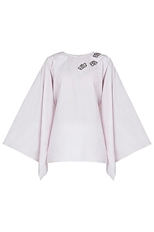 Powder Pink Dramactic Sleeve Top