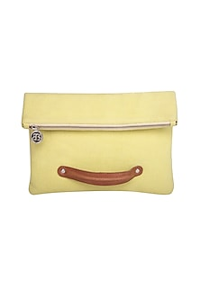 Yellow Crossbody Clutch by The House of Ganges