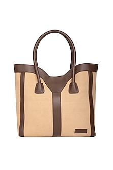 9d5813cacbb Sand Tote Bag With Shoulder Handle by The House of Ganges