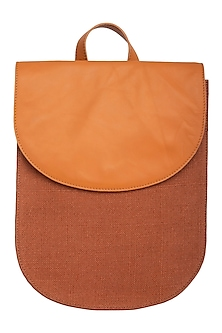 Rust Backpack With Wrist Handle by The House of Ganges