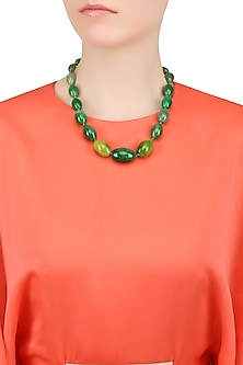 Green Onyx Stone String Necklace.