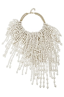 Drizzling Pearls Statement Neckpiece by TI Couture By Tania M Kathuria