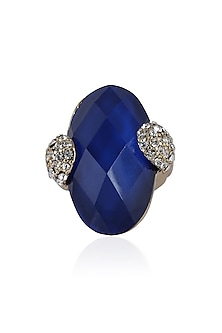 The Deep Blue Stone Ring by TI Couture By Tania M Kathuria