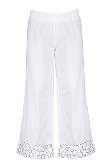 White Palazzo Pants by The Natty Garb