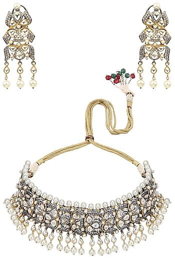 Tanzila Rab Gold Sapphire Bridal Necklace