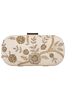 Badge Embroidered Clutch by The Purple Sack