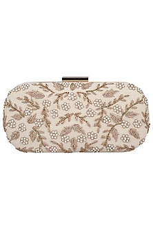 Badge Floral and Leaf Embroidered Clutch by The Purple Sack
