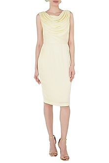 Pastel Yellow Cowl Neck Dress by Tara and I