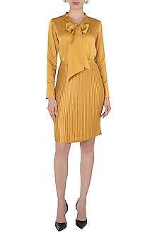 Mustard Pleated Skirt by Tara and I