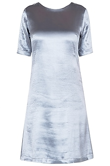 Electric Grey Shift Dress