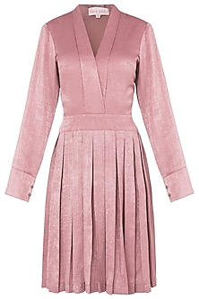 Peach Box Pleated Wrap Dress