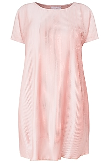 Blush Pink Pleated Dress