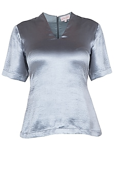 Electric Grey Dart Top