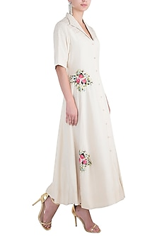 Ivory Embroidered Gown by The Right Cut