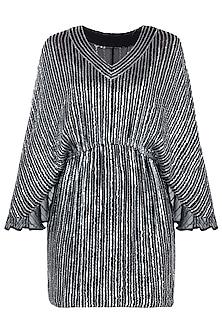 Black Embroidered Dress by Trish by Trisha Datwani