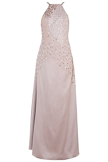 Rose Gold Embroidered Gown