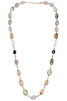 Gold Plated Multi Color Necklace by Tarusa