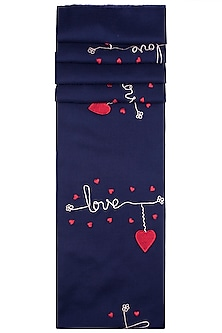 Navy Blue Love Scarf by The Scarf Story