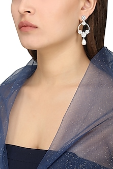 Silver Shell Pearl Earrings