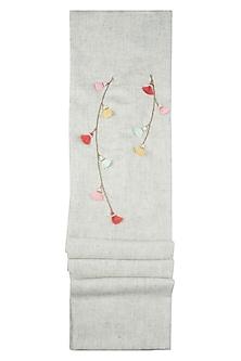 Grey multi tassel scarf by The Scarf Story