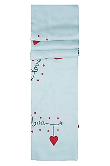 Ice blue love scarf by The Scarf Story
