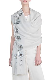 Grey tassel scarf