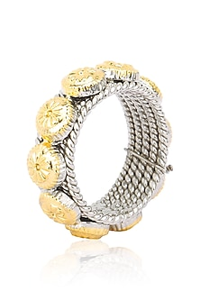 Dual Finish Flower Finish Ring by Tanvi Garg
