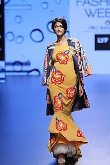 Multicolor Oversize Drop Jacket by Urvashi Joneja
