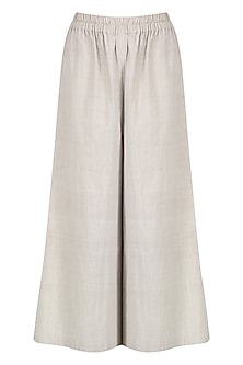 Broken White Khadi Cotton Culottes by Urvashi Kaur