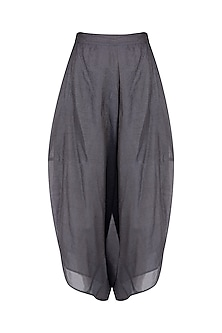 Indigo Thin Stripes Silk Dhoti Pants