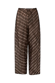 Chocolate Brown Leheria Print Culottes