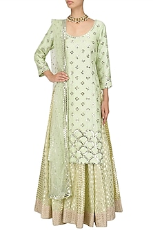Mint Green Kurta Skirt