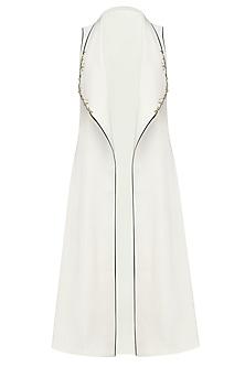 White Embellished Waterfall Jacket