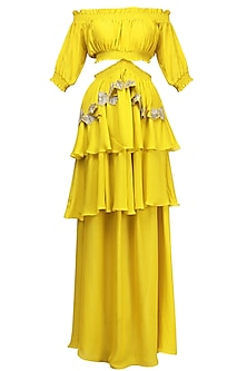 Buttercup Yellow Ruffled Maxi Dress