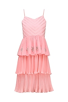 Cotton Candy Pink Ruffled Dress
